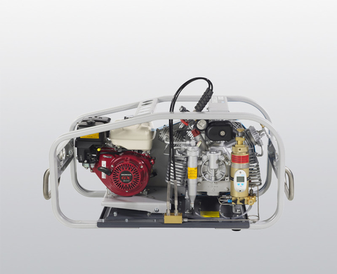 BAUER MARINER 200 breathing air compressor, rear view