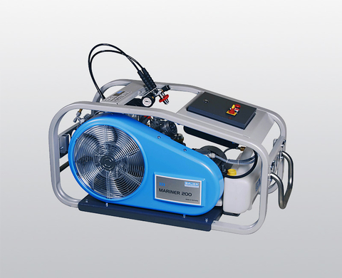 BAUER MARINER 200 breathing air compressor with electric motor